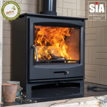 Multi-Fuel Ecosy+ Panoramic 5kw  -  Defra Approved /  Eco Design Ready (2022) - Woodburning Stove - 5 Year Guarantee