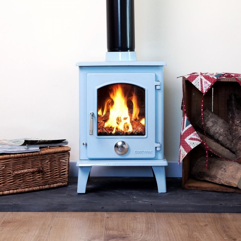 Quot Defra Approved Quot A Blue Enamel Coseyfire Petit Multi Fuel