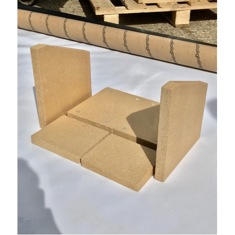 Replacement Fire Brick Set for Purefire 5kw Curve
