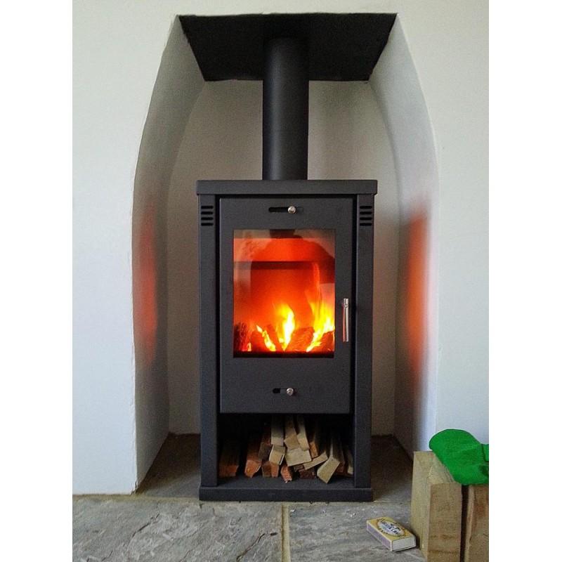 wood burning fireplace.  Tulin Contemporary Woodburning Multi Fuel Modern Stove 7 8kw