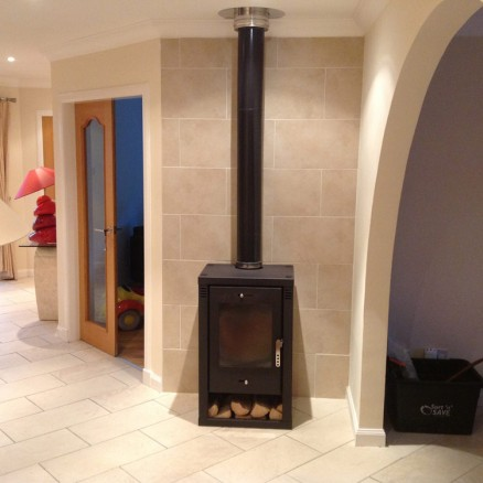 Verona L Contemporary Modern Woodburning Stove 9kw