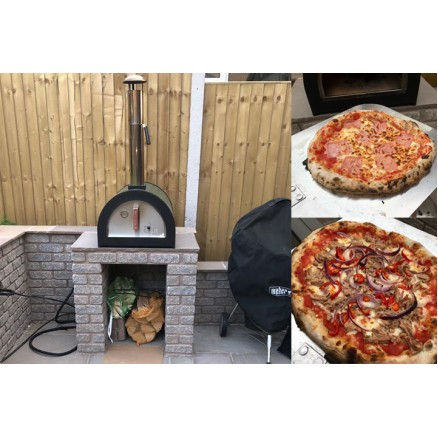 Green Machine Outdoor Stainless Steel Stone Base Pizza Oven