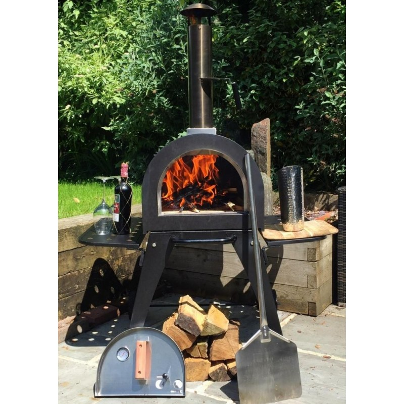 Dome Outdoor Stainless Steel Stone Base Pizza Oven With Stand