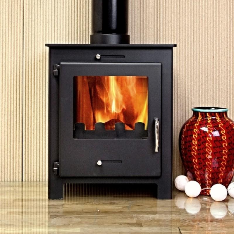 Nero 5 Black Contemporary Woodburning Stove 5kw