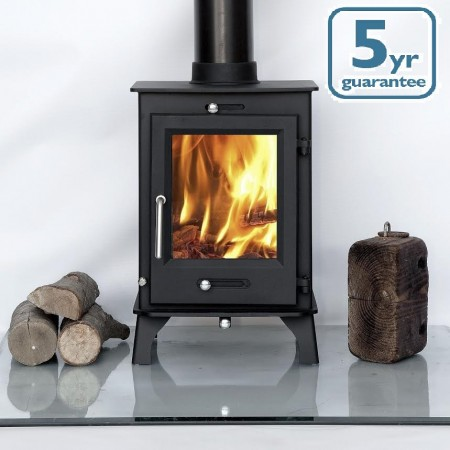 5kw Contemporary Woodburning Stoves Multi Fuel. 5 YEAR GUARANTEE