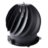 Rotorvent Ultralite 2 - Black Anti Down draught spinning Cowl