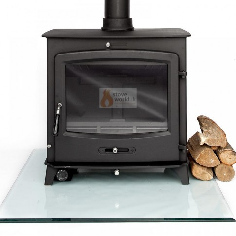 30kw Back Boiler Multi-Fuel Woodburning Stove , Secondary Burn, Thermostat
