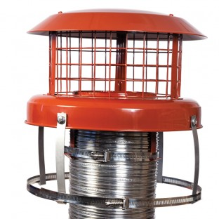 "5""  Terracotta Chimney Pot Hanger Cowl - Colt  (Connects To Chimney Liner)"