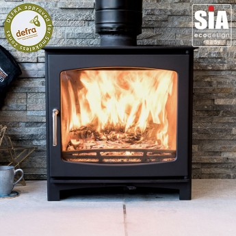 """""""SLIGHT SECOND"""" Ecosy+ Panoramic Defra Approved 5kw Eco Design Ready (2022) - Woodburning Stove"""