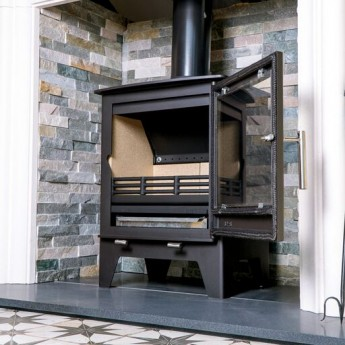 Grey Slate Fireplace Chamber Boards On Quartz - 950mm High