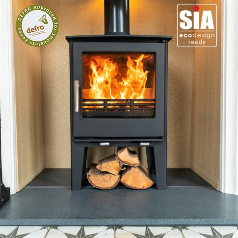 Ecosy+ Snug 7 to 10kw (Tall)  Multi-Fuel, 2022 Eco Design Ready , Defra Approved Stove