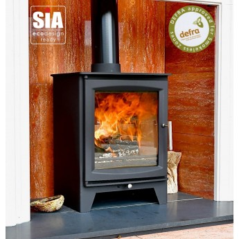 Ecosy+ Hampton 5 XL Defra Approved - 5kw Wood Burning Stove, 7 Year Guarantee, Ecodesign Ready