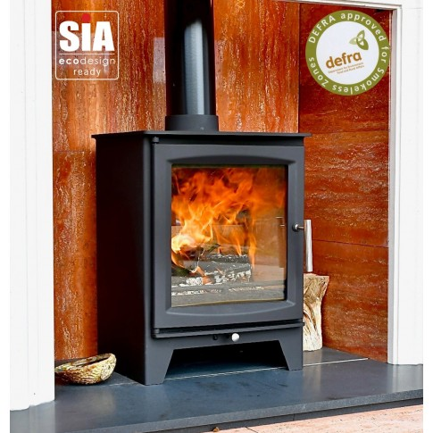 Hampton 5 XL Defra Approved - 5kw Wood Burning Stove, 7 Year Guarantee, Ecodesign Ready
