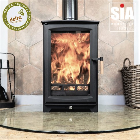 Hampton Highline 5kw Defra Approved -  Ecodesign Ready (2022)  - 7 Year Guarantee - Black
