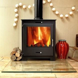 Nero 11 Contemporary Woodburning Multi-fuel Stove 11kw BLACK