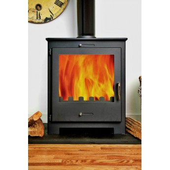 Nero 11 Contemporary Woodburning Multi-fuel Stove 11kw GREY VERSION
