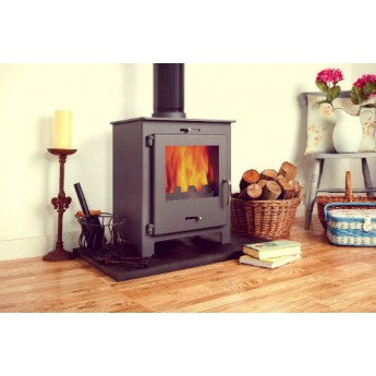 Nero 5 GREY Contemporary Woodburning Stove  5kw