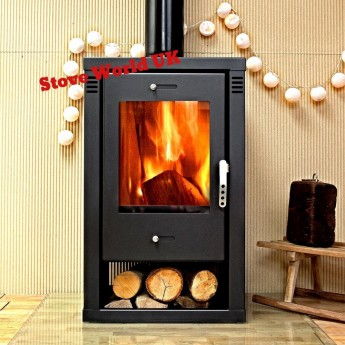Noriko BLACK Contemporary Woodburning Stove 9kw