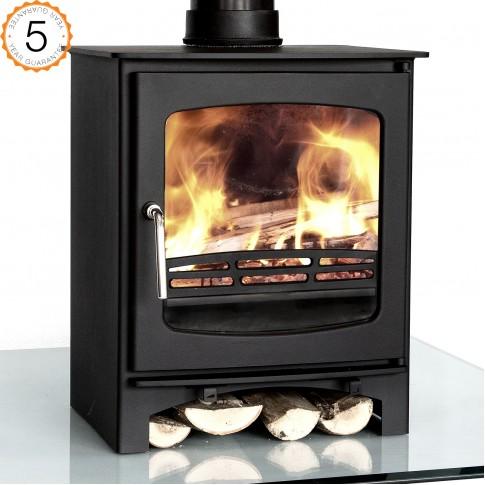 Purefire 7-8kw Curve Multi-Fuel Woodburning Stove Stoves Log Burner - 5 Year Guarantee