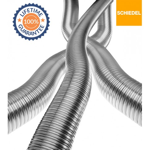 "5"" Schiedel Tecnoflex 904/904 Grade Build Your Own Flexible Liner Kit,  (£24.99 Per Meter) (From £124.95) LIFETIME GUARANTEE"