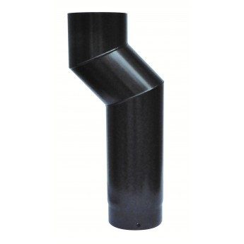 Offset 45 degree bend Flue Pipe - 125mm - 5""