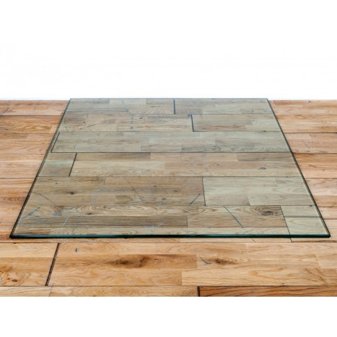 12mm Square Glass Hearth Plinth Floor Plate 840mm x 840mm - For Woodburning Stove