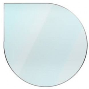 12mm Tear Drop Glass Hearth / Plinth Floor Plate For Woodburning Stove