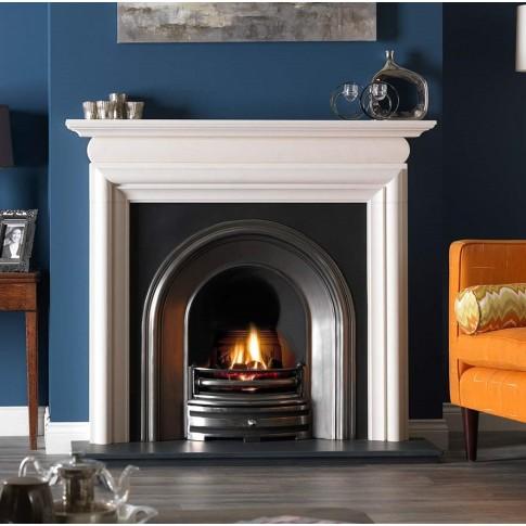 Aegean Limestone Fireplace Surround / Mantle
