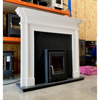 Crown Aegean Limestone Fireplace Surround / Mantle With Granite Hearth Option