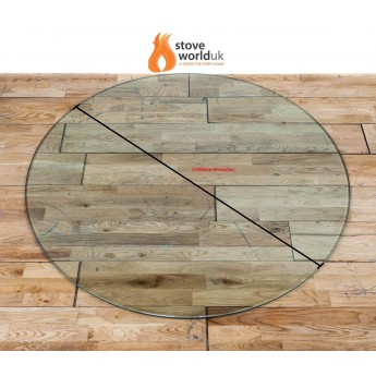 *OFFER* 12mm Circle / Circular Glass Hearth/Plinth Floor Plate 1100mm