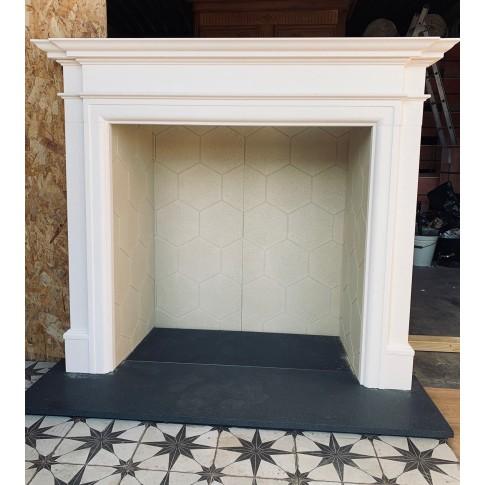 Oxford Aegean Limestone Fireplace Surround / Mantle