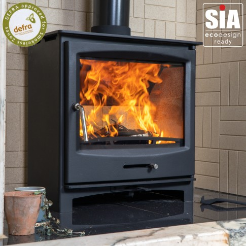 Panoramic Multi-Fuel 5kw Stove - Defra Approved, Ecodesign, 5 Year guarantee