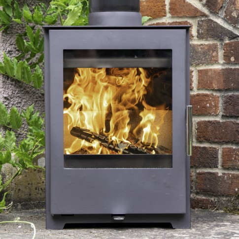 Zona 5kw Compact Woodburning Stove Grey  - Made In Europe