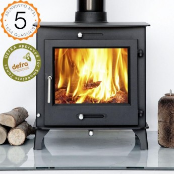 DEFRA APPROVED 12kw OTTAWA + CLEAN BURN Contemporary  Woodburning Stoves Multi Fuel  5 YEAR GUARANTEE