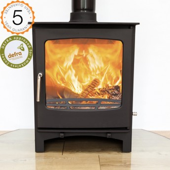 Defra Approved Ecosy+ Purefire 10kw Multi-Fuel Curve Stove 5 YEAR GUARANTEE