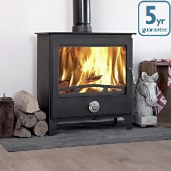 Ecosy+ 14-16kw Mondo Multi-Fuel Woodburning Stove, Stoves With Secondary burn system.