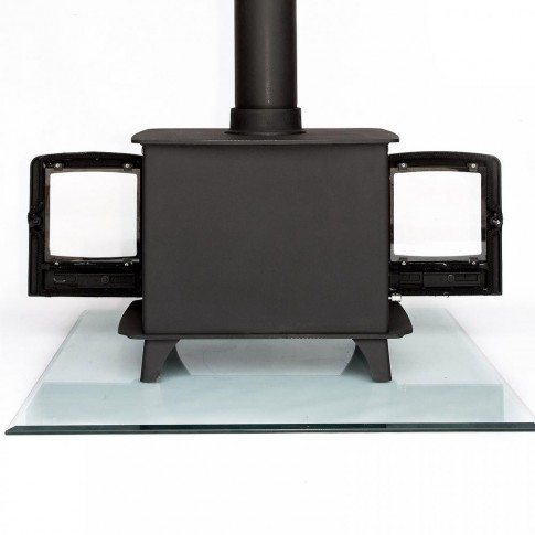 Ecosy+  8kw DOUBLE SIDED Multi-Fuel Woodburning Stove , WITH SECONDARY BURN, Dual Fronted