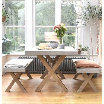 1600mm Sanctuary Elk Indoor / Outdoor Polished Concrete Bench Set