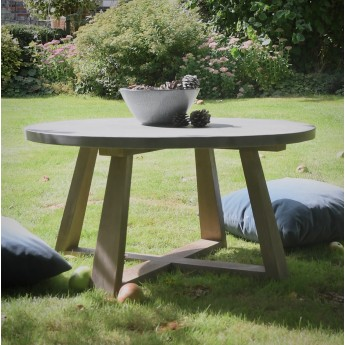 910mm  Sanctuary Ox Indoor / Outdoor Polished Concrete & Wood Coffee Table