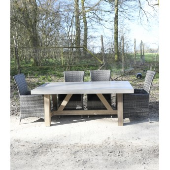 2000mm x 1000mm Sanctuary Stag Indoor / Outdoor Polished Concrete & Wood Table