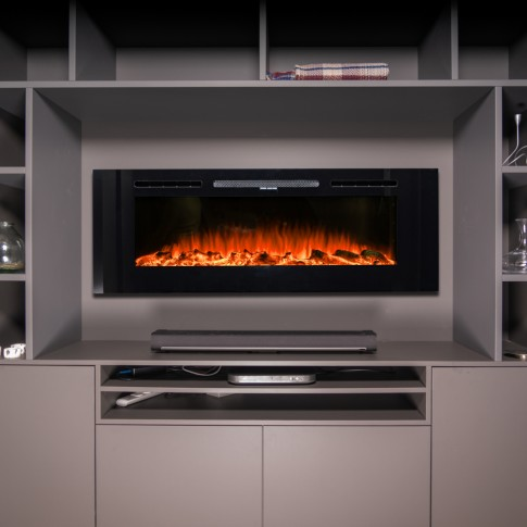 """72"""" SW-FIRE Wall Hung or Freestanding Designer Electric Fireplace"""