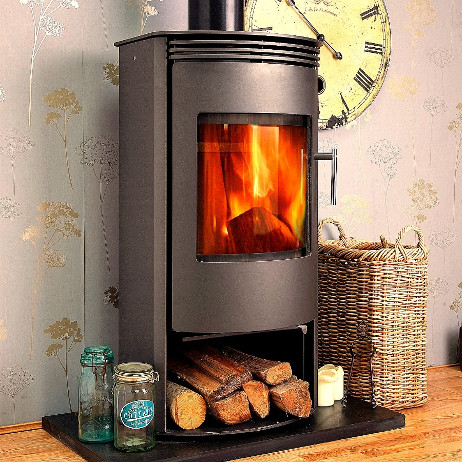 Jupiter Contemporary Modern Multi Fuel Woodburning Stove 7kw