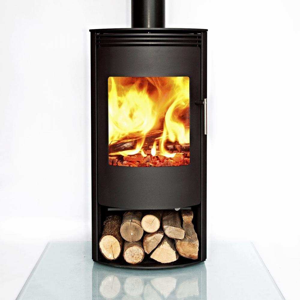 jupiter contemporary modern multi fuel wood burning stove 7kw