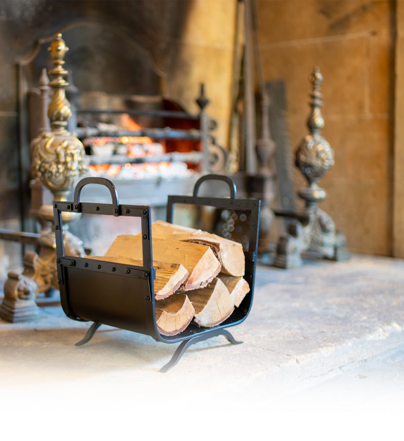 Wrought iron fireside tool sets for wood burning stoves and open fires