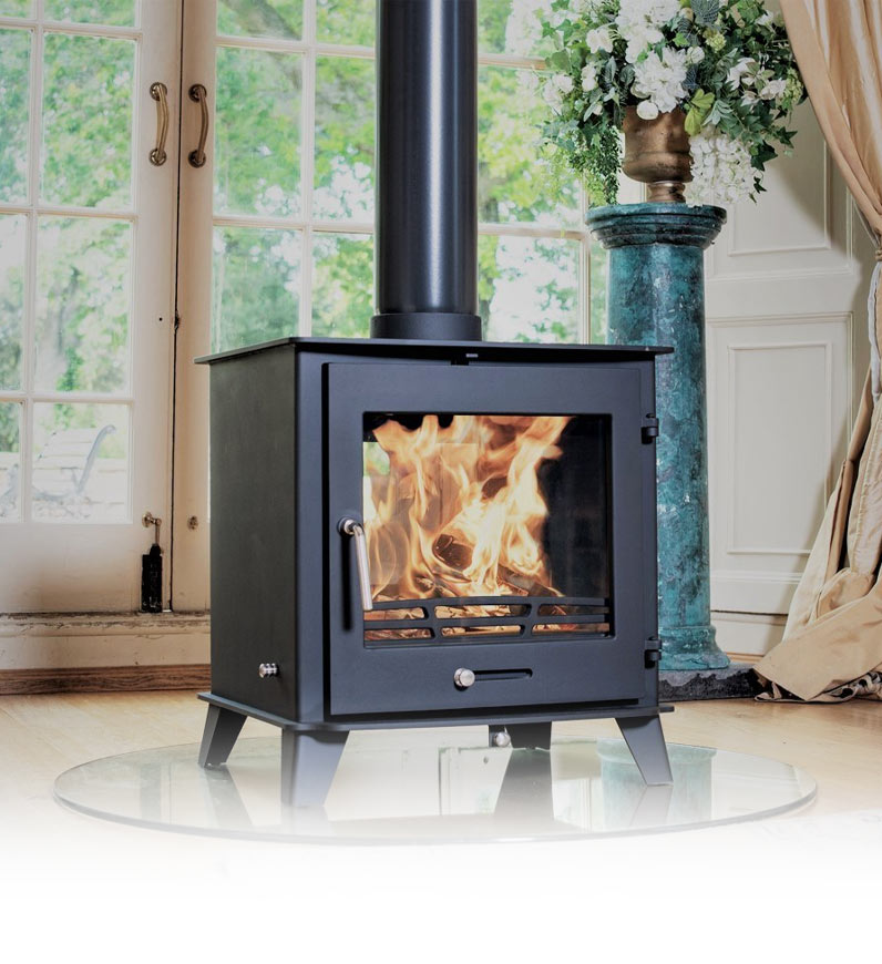 Double Sided Wood Burning Multi-Fuel Stoves